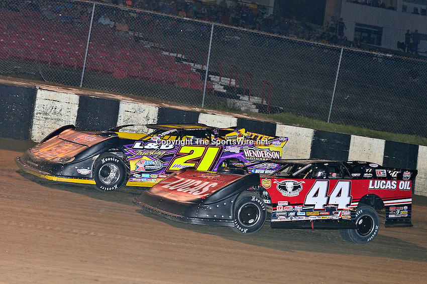 May 18, 2013; 10:25:13 PM; Locus Grove, AR., USA; 2nd Annual ?Bad Boy 98? sponsored by Bad Boy Mowers will pay racers $20,000 win at the Batesville Motor Speedway for Lucas Oil Late Model Series.  Mandatory Credit: (thesportswire.net)