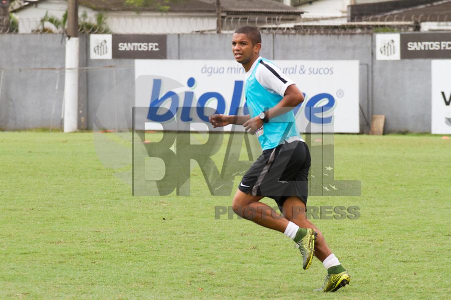 SANTOS, SP, 17.11.2015 - FUTEBOL-SANTOS - David Braz do Santos durante sessão de treinamento no Centro de Treinamento Rei Pelé nesta terça-feira, 17 (Foto: Flavio Hopp / Brazil Photo Press)