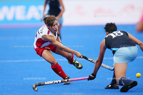 Yuri Nagai (JPN), <br /> SEPTEMBER 26, 2014 - Hockey : <br /> Women's Preliminary <br /> between Kazakhstan Women's 0-8 Japan Women's <br /> at Seonhak Hockey Stadium <br /> during the 2014 Incheon Asian Games in Incheon, South Korea. <br /> (Photo by YUTAKA/AFLO SPORT)