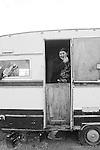 campo nomadi truncu reale rom zingari Nomads forced to move from a refugee camp to another, Sassari, Italy.<br /> Una comunità di nomadi costretti a spostarsi da un campo nomadi ad un altro, Sassari, Italia