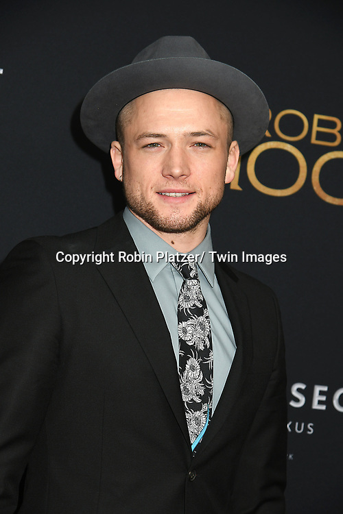 "Taron Egerton attends the New York Special Screening of ""Robin Hood"" on November 11, 2018 at AMC Lincoln Square in New York, New York, USA.<br /> <br /> photo by Robin Platzer/Twin Images<br />  <br /> phone number 212-935-0770"