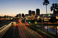 Downtown Long Beach at Dusk on Shoreline Dr.