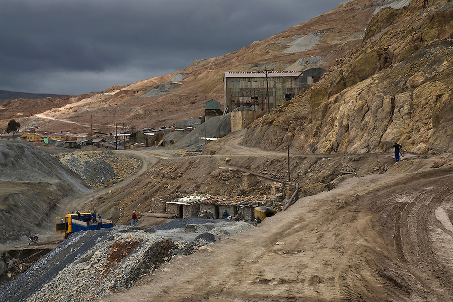 A mine in operation on the lower slopes of the Cerro Rico, Potosí.