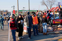 Rally in Milwaukee, Wisconsin in support of an  increase in the minimum wage to $15 an hour.