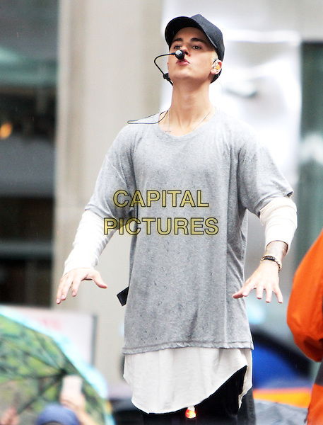 NEW YORK, NY - SEPTEMBER 10: Justin Bieber performs on NBC's Today Show Toyota Concert Series in New York City on September 10, 2015.  <br /> CAP/MPI/RW<br /> &copy;RW/MPI/Capital Pictures