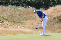 Matthew McClean (Malone) on the 14th green during Round 2 - Strokeplay of the North of Ireland Championship at Royal Portrush Golf Club, Portrush, Co. Antrim on Tuesday 10th July 2018.<br /> Picture:  Thos Caffrey / Golffile