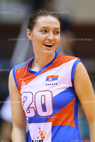 Jelena Blagojevic (SRB), <br /> JULY 16, 2017 - Volleyball : FIVB Volleyball World Grand Prix SENDAI 2017 match between <br /> Serbia 3-1 Thailand <br /> at Kamei Arena Sendai, in Sendai, Japan. <br /> (Photo by Sho Tamura/AFLO)