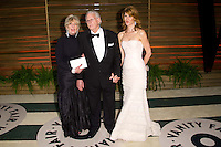Bruce Dern, wife & Laura Dern arriving for the 2014 Vanity Fair Oscars Party, Los Angeles. 02/03/2014 Picture by: James McCauley/Featureflash