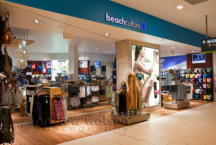 Beach-wear store at Cairns Domestic Airport, Cairns, Queensland, Australia