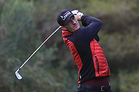 Sebastian Heisele (GER) on the 5th tee during Round 3 of the Challenge Tour Grand Final 2019 at Club de Golf Alcanada, Port d'Alcúdia, Mallorca, Spain on Saturday 9th November 2019.<br /> Picture:  Thos Caffrey / Golffile<br /> <br /> All photo usage must carry mandatory copyright credit (© Golffile | Thos Caffrey)