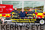 Live demonstration by Killarney Fire Station crew Martin O'Grady, Paudie Mangan and Sined Galvin at Deerpark Shopping Centre Killarney. Demonstration took place to highlight National Fire Safety Week.