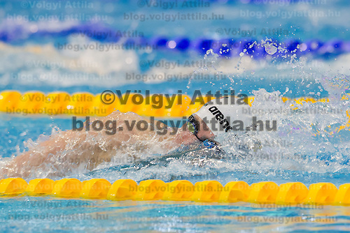 Paul Biedermann of Germany wins the men's 400m freestyle final of the 31th European Swimming Championships in Debrecen, Hungary on May 21, 2012. ATTILA VOLGYI