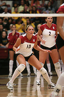 7 October 2005: Kristin Richards during Stanford's 3-1 loss to Washington at Maples Pavilion in Stanford, CA.