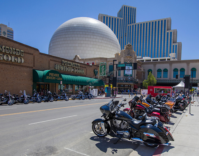 A photograph taken during the Street Vibrations Spring Rally in Downtown Reno on Saturday, June 2 , 2018