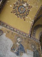 Mosaic of Jesus Christ, Aya Sofia - Istanbul, Turkey