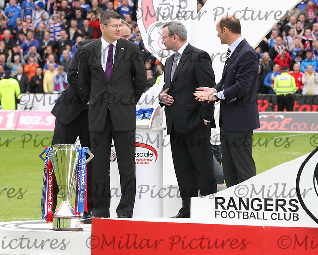 The presentation party with the SPL trophy