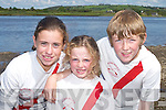 BOATING: Leen Qasim, Siobhain Burns and Aodhan Burns (Workmens Rowing Club) having fun at Callinafercy Regatta last Sunday...
