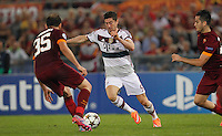 Bayer's Robert Lewandowski during the Champions League Group E soccer match between As Roma and FC Bayern Munchen at the Olympic Stadium in Rome october 21 , 2014.