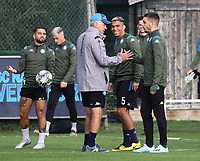 4th November 2019; Castelvolturno training center , Campania, Italy; UEFA Champions League Group Stage Football, Napoli versus Red Bull Salzburg, Napoli Training:Carlo Ancelotti coach of Naples - Editorial Use