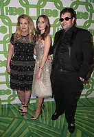 BEVERLY HILLS, CA - JANUARY 6: Nancy Davis, Isabella Rickel, Jason Davis, at the HBO Post 2019 Golden Globe Party at Circa 55 in Beverly Hills, California on January 6, 2019. <br /> CAP/MPI/FS<br /> ©FS/MPI/Capital Pictures