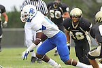 Palos Verdes, CA 09/16/11 - Julius Wilson (Culver City #4) in action during the Culver City-Peninsula varsity football game.