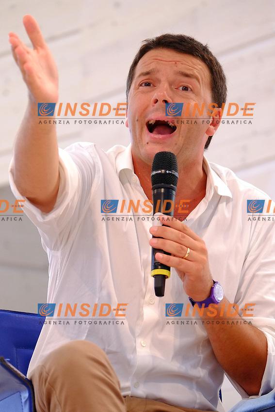 01-09-2013: Genova Festa Nazionale Partito Democratico<br /> Matteo Renzi <br /> Democratic Party national meeting <br /> Interview with Matteo Renzi <br /> Foto Genovafoto / Insidefoto