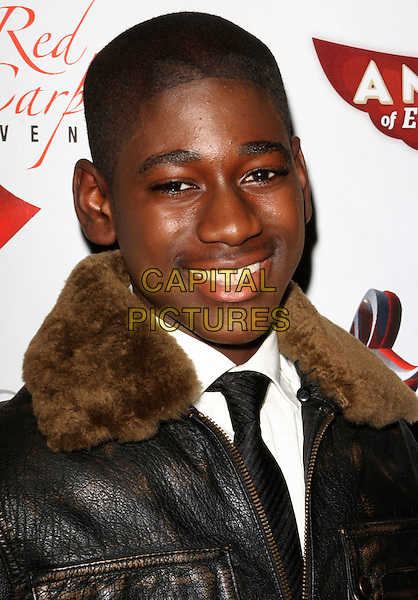 KUAME BOATENG.Angels Of East Africa Celebrity Charity Event held at The Social, Hollywood, California, USA..November 7th, 2008.headshot portrait brown fur collar .CAP/ADM/KB.©Kevan Brooks/AdMedia/Capital Pictures.