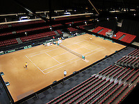 11-sept.-2013,Netherlands, Groningen,  Martini Plaza, Tennis, DavisCup Netherlands-Austria, Practice,   <br /> Photo: Henk Koster