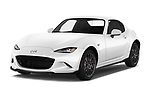 2017 Mazda MX-5 RF First Edition 2 Door Targa angular front stock photos of front three quarter view