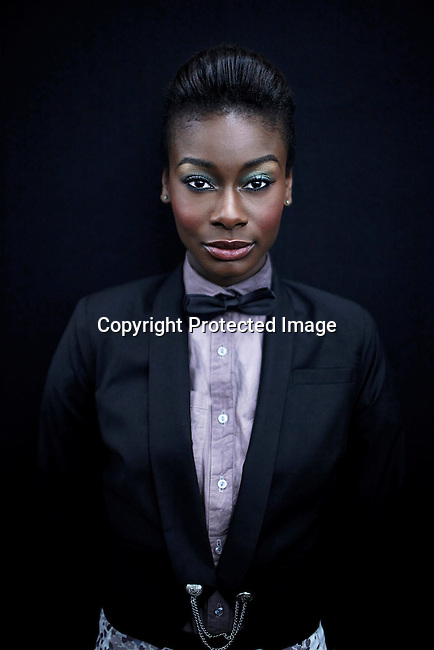 JOHANNESBURG, SOUTH AFRICA - APRIL 1: A model poses for a picture backstage before a show at Joburg Fashion Week on April 1, 2012, in Johannesburg, South Africa. (Photo by Per-Anders Pettersson)