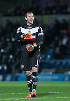 Goalkeeper Roy Carroll of Notts County shows his frustration during the Sky Bet League 2 match between Wycombe Wanderers and Notts County at Adams Park, High Wycombe, England on 15 December 2015. Photo by Andy Rowland.