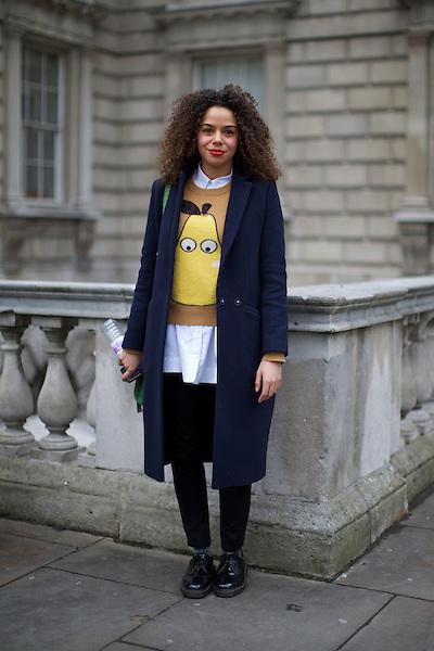 London Fashion Week Street Style at Somerset House