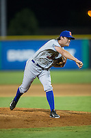 Kingsport Mets relief pitcher Joe Napolitano (38) follows through on his delivery against the Burlington Royals at Burlington Athletic Stadium on July 18, 2016 in Burlington, North Carolina.  The Royals defeated the Mets 8-2.  (Brian Westerholt/Four Seam Images)