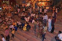 Varanasi India, Aarti Ceremony and Holi Festival