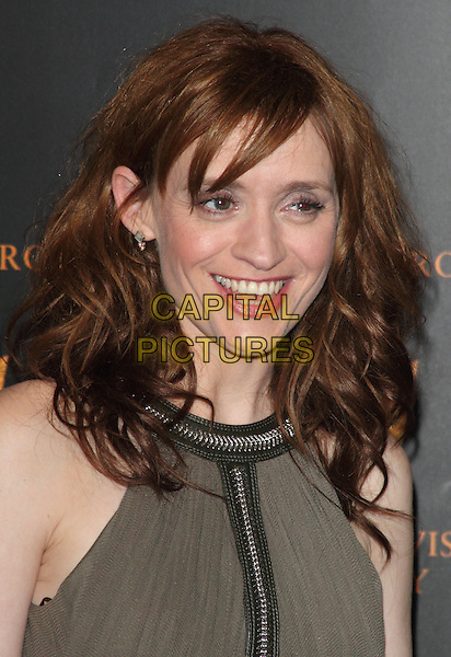 Anne-Marie Duff.Royal Television Society Programme Awards held at the Grosvenor House, London, ENgland..March 19th, 2013.RTS headshot portrait smiling brown green beige sleeveless   .CAP/ROS.©Steve Ross/Capital Pictures..