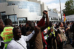 Black workers, Place de las Bastille, May Day March, Paris, 1 May 2009