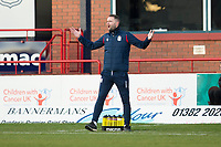 30th November 2019; Dens Park, Dundee, Scotland; Scottish Championship Football, Dundee Football Club versus Queen of the South; Dundee manager James McPake asks for more from his players - Editorial Use