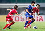 DPR Korea vs Thailand during the AFC U-19 Women's Championship China Group B match at the Jiangning Sports Centre Stadium on 19 August 2015 in Nanjing, China. Photo by Aitor Alcalde / Power Sport Images