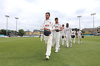 Ryan ten Doeschate leads off the Essex team after victory during Essex CCC vs Warwickshire CCC, Specsavers County Championship Division 1 Cricket at The Cloudfm County Ground on 22nd June 2017