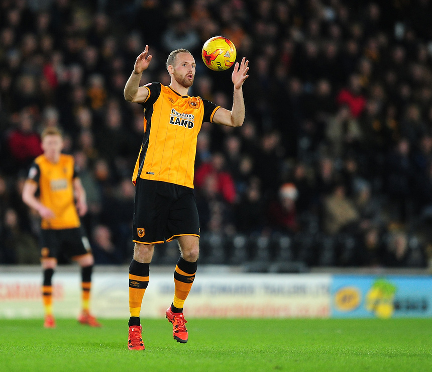 Hull City's David Meyler<br /> <br /> Photographer Chris Vaughan/CameraSport<br /> <br /> Football - The Football League Sky Bet Championship - Hull City v Burnley - Saturday 26th December 2015 - Kingston Communications Stadium - Hull<br /> <br /> &copy; CameraSport - 43 Linden Ave. Countesthorpe. Leicester. England. LE8 5PG - Tel: +44 (0) 116 277 4147 - admin@camerasport.com - www.camerasport.com