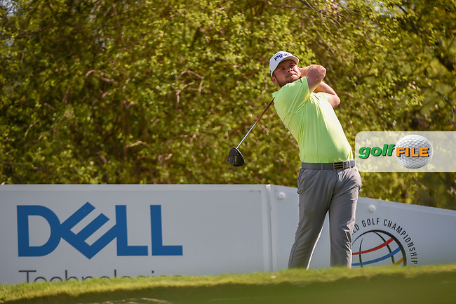 Tyrrell Hatton (ENG) watches his tee shot on 12 during day 1 of the WGC Dell Match Play, at the Austin Country Club, Austin, Texas, USA. 3/27/2019.<br /> Picture: Golffile | Ken Murray<br /> <br /> <br /> All photo usage must carry mandatory copyright credit (© Golffile | Ken Murray)