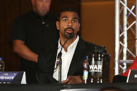 David Haye during a Press Conference at the Park Plaza on 9th September 2019
