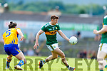 James O'Donoghue Kerry in action against Cian O'Dea Clare during the Munster GAA Football Senior Championship semi-final match between Kerry and Clare at Fitzgerald Stadium in Killarney on Sunday.