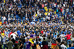 Pitch invasion of RCD Espanyol's supporters during La Liga match. May, 18th,2019. (ALTERPHOTOS/Alconada)
