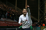 Scott Laird of Preston North End celebrates his goal - FA Cup Fifth Round - Preston North End  vs Manchester Utd  - Deepdale Stadium - Preston - England - 16th February 2015 - Picture Simon Bellis/Sportimage