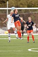 SAN ANTONIO, TX - SEPTEMBER 18, 2011: The University of Texas at El Paso Miners vs. The University of Texas at San Antonio Roadrunners Women's Soccer at Roadrunner Field. (Photo by Jeff Huehn)