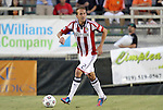 05 June 2012: Chivas USA's Scott Gordon. The Carolina RailHawks (NASL) lost 1-2 to Club Deportivo Chivas USA (MLS) at WakeMed Soccer Stadium in Cary, NC in a 2012 Lamar Hunt U.S. Open Cup fourth round game.