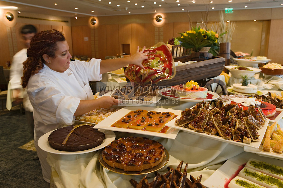 Asie/Israël/Judée/Jérusalem: Buffet du Shabbatt à l'hôtel Plaza Sheraton de Jérusalem