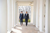 United States President Barack Obama, right, and Prime Minister Justin Trudeau of Canada, left, walk from the Oval Office to conduct a joint press conference in the Rose Garden of the White House in Washington, DC on Thursday, March 10, 2016. <br /> Credit: Ron Sachs / CNP