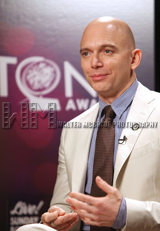 Michael Cerveris.Behind the Scene at the 2012 Tony Award-Meet The Nominees Press Reception at Millennium Broadway Hotel on May 2, 2012 in New York City.